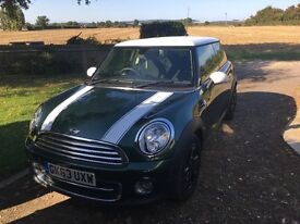 Racing green Mini Cooper D with chilli pack