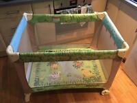 Fisher price rainforest travel cot