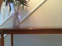 Console table light warm mahogany colour