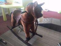 Rocking horse with delux sadle
