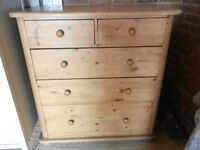'Victoriana' Pine chest of drawers 2 over 3