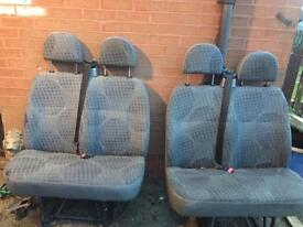 2 double Ford transit seats fits any van £70 each