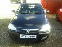 November 2003 Vauxhall corsa four new tyres just serviced sold with full mot call 07900608871
