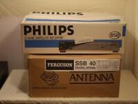 PHILIPS STU-902/05R D MAC SATELLITE RECEIVER & SQUARIAL DISH