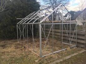 8ft x 10ft greenhouse frame only (no glass)