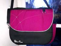 SILVER CROSS BRIGHT PINK & BLACK BABY Wayfarer /Pioneer / Surf Sun Diaper Bag
