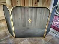 Vintage Brass Folding Fireguard