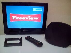 "TECHNIKA 15"" LCD TV With built in freeview and wall mounting bracket."