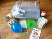 Hamser Cage, food, bedding, wheel, ball, new toys .....everything you need! Bargain £35
