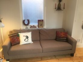 Dwell Sofa three seater - very good quality - Grey/Brown,