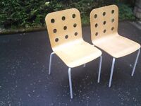 Ikea Wooden Chair Set (4 pieces)