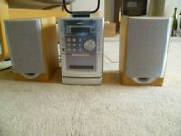 Stereo with CD Player, single tape deck and LW,FM,AM radio and 2 speakers