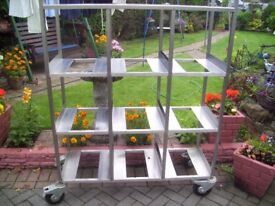 mobile stainless steel storage with break casters