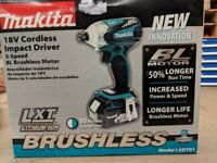 Makita XDT01Z 18 Volt Lith-Ion First 3-Speed World BRUSHLESS Impact Dr