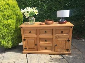 CORONA solid PINE SIDEBOARD storage drawers sold wood SHABBY CHIC