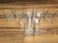 8 cube glass vases - great for wedding decoration centrepieces
