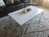 White Marble effect Coffee Table Gold Legs - Wayfair Allie Coffee Table