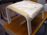 Ikea Poang Footstool in Natural Cream