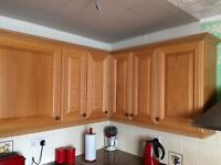 Full kitchen units oven and hob