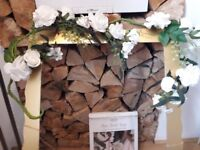 Brand new ginger ray wedding decor and second hand rustic themed decorations.