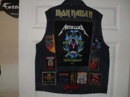 LEGENDS OF METAL Tribute Vest--XL--Blue  ******* New Listing 5 dec 2019*****
