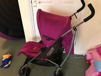 Mamas and papas purple pram