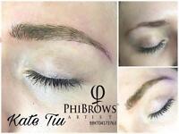Phi Brows💎Artist🌸Microblading by Kate Tiu🌸semi permanent eyebrows