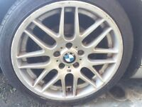 BMW Csl ALLOYS 18 inch good thread