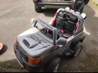 Kids ride on electric jeep
