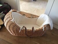 Moses Basket with blanket