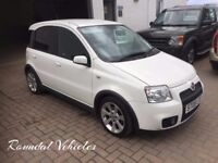 2008 Fiat Panda 100Hp WHITE, sporty little hatchback Mot Nov FULL HISTORY inc t/belt VERY COOL CAR!!