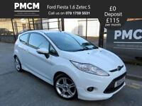 FORD FIESTA 2011 1.6 ZETEC S - SPORTS STYLING - JUST SERVICED - polo gti corsa vxr clio (white) 2011