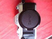 Canon AV1 SLR camera & fast prime lens. Like AE1