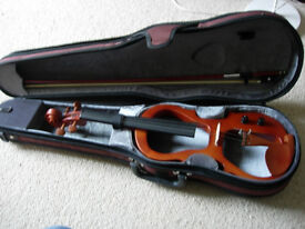 electric violin -excellent Yamada-for silent/amplified playing striking looks, plays well, great fun