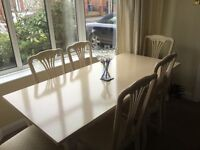 Limed Oak Dining Table and 6 Chairs