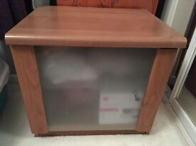 Frosted glass door bedside cabinet