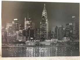 Diamanté Sparkle New York Canvas from Next