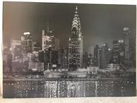 Diamanté Sparkle New York Canvas from Next