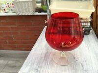 RUBY RED EXTRA LARGE BRANDY GLASS