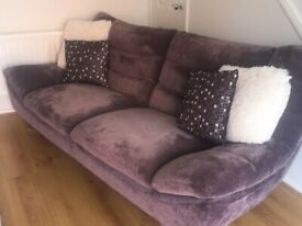 Large three seater sofa and chair