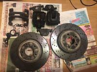 bmw m3 e92/e93 rear brake disc and calipers