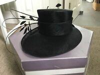 Black wedding hat