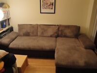 Large 3-seater corner Sofa that turns into double bed