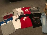 Boys assorted tshirts 6-8 years diff sizes & jeans