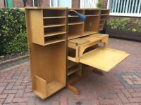 Folding office bureau/desk craft unit