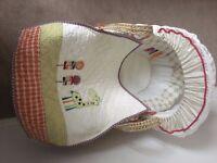 Mamas and Papas Jamboree Moses Basket (Never Used) £50