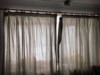 Curtain and Wooden Rail 255cm £15 for the set