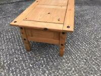 Corona pine coffee table with matching corner unit