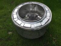 Washing machine drum fire pit