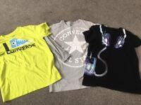 Boys age 12 tops t-shirts 1 next 2 converse